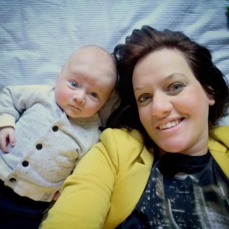 Jolanda met zoontje